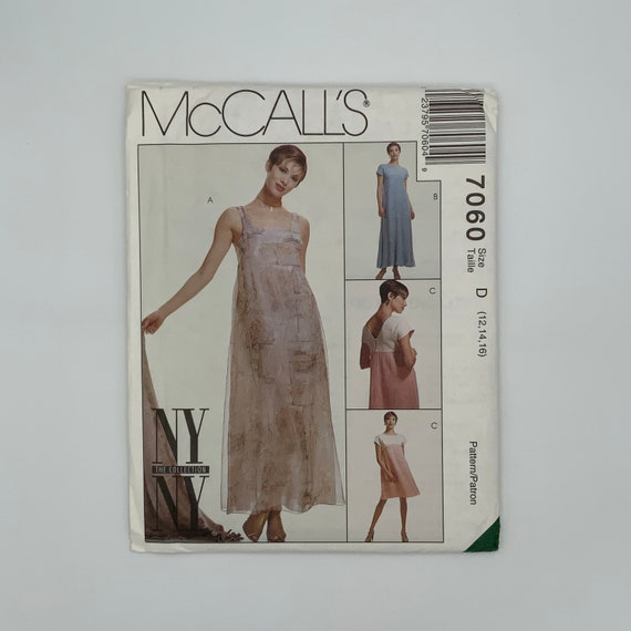McCall's 7060 (1994) Dress with Style and Length Variations - Size 12-16 Bust 34-38 - Vintage Uncut Sewing Pattern