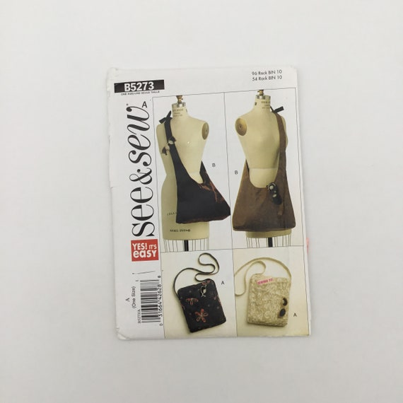 See & Sew 5273 (2008) Cross-Body Bags - Uncut Sewing Pattern