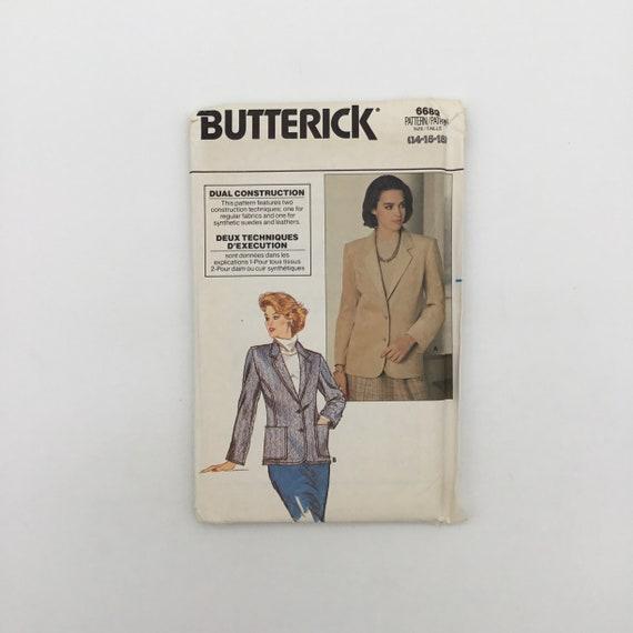Butterick 6689 Jacket - Size 14-18 Bust 36-40 - Vintage Uncut Sewing Pattern