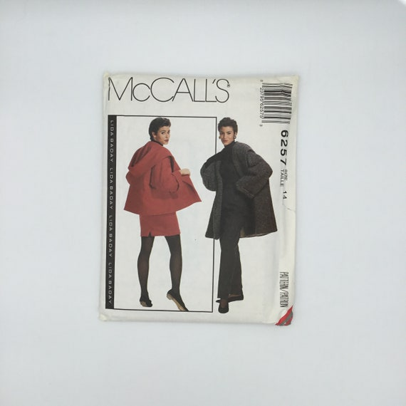 McCall's 6257 (1992) Coat, Jacket, Skirt, and Pants - Size 14 Bust 36 - Vintage Uncut Sewing Pattern