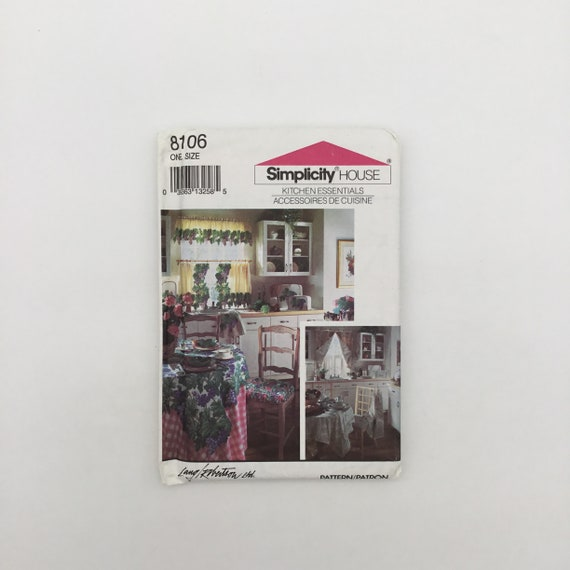 Simplicity 8106 (1992) Kitchen Essentials - Vintage Uncut Sewing Pattern