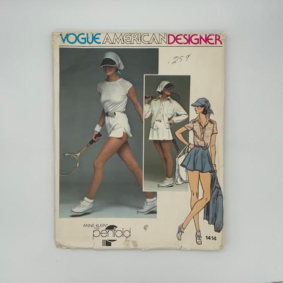 Vogue 1414 Anne Klein Jacket, Dress, T-Shirt, Skirt, Briefs, and Visor - Size 14 Bust 36  - Vintage Uncut Sewing Pattern