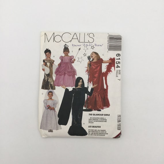 McCall's 6154 (1982) Glamour Costumes - Size 7 - Vintage Uncut Sewing Pattern