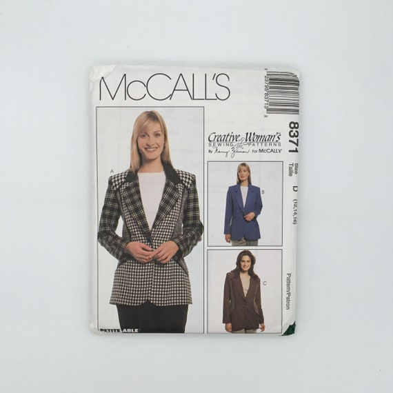 McCall's 8371 (1996) Jacket - Size 12-16 Bust 34-38 - Vintage Uncut Sewing Pattern