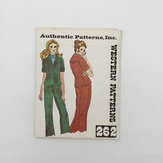 Authentic Patterns 262 Western Jacket and Pants - Multiple Sizes Available - Vintage Uncut Sewing Pattern
