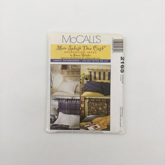 McCall's 2165 (1999) Donna Bablyon Fabric Headboards - Vintage Uncut Sewing Pattern