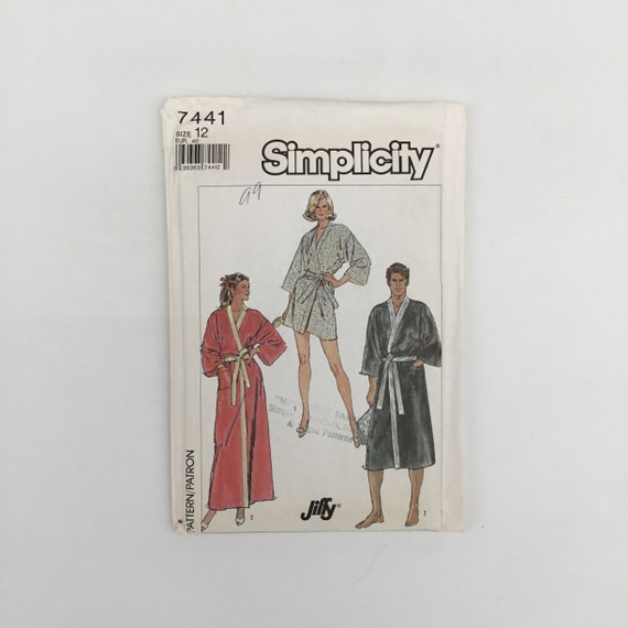 Simplicity 7441 (1986) Robe with Length Variations - Size 12 Bust 34 - Vintage Uncut Sewing Pattern
