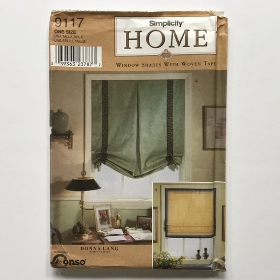 Simplicity Home 9117 (2000) Window Shades with Woven Tape - Uncut Sewing Pattern