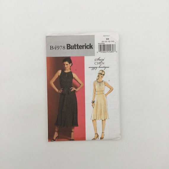 Butterick 4978 (2007) Dress with Length Variations - Size 8-14 - Uncut Sewing Pattern