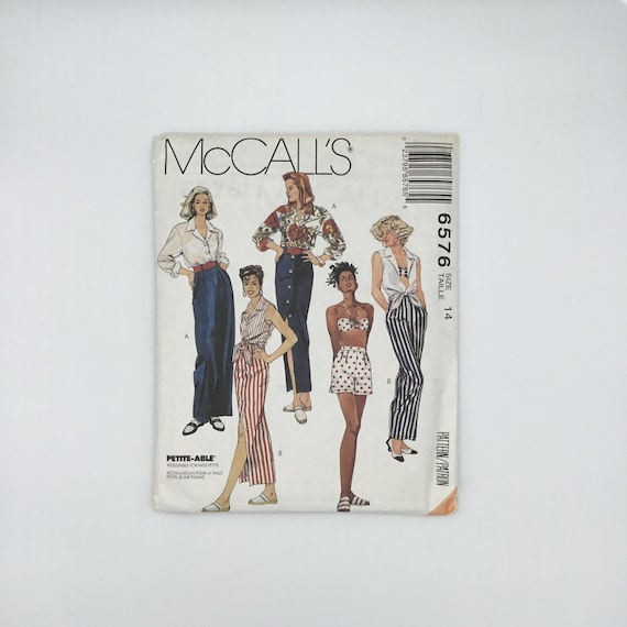 McCall's 6576 (1993) Shirt, Bra Top, Skirt, Pants, and Shorts - Multiple Sizes Available - Vintage Uncut Sewing Pattern