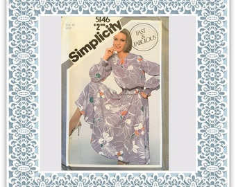 Simplicity 5146 (1981) Misses' pullover two-piece dress - Vintage Uncut Sewing Pattern