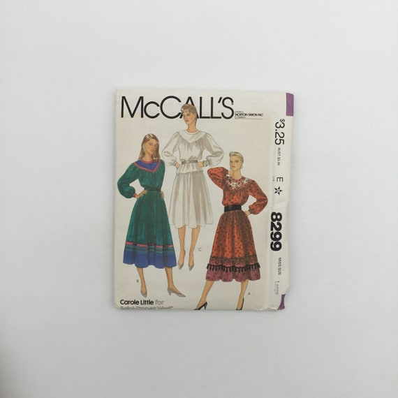 McCall's 8299 (1982) Top and Skirt - Size 18-20 Bust 40-42 - Vintage Uncut Sewing Pattern