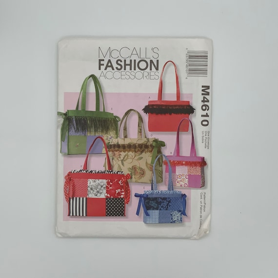McCall's 4610 (2004) Tote Bags with Style Variations - Uncut Sewing Pattern