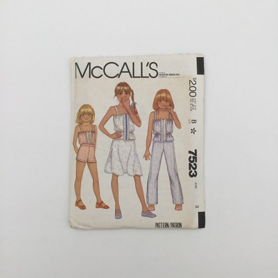 McCall's 7523 (1981) Top, Skirt, Pants, and Shorts - Multiple Sizes Available - Vintage Uncut Sewing Pattern
