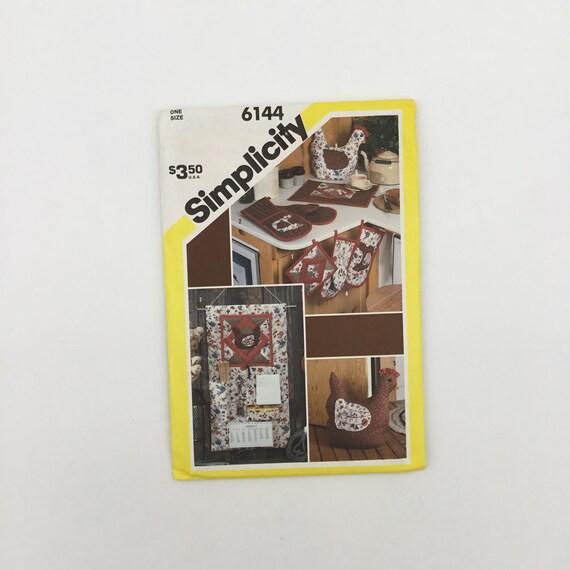 Simplicity 6144 (1983) Kitchen Accessories - Vintage Uncut Sewing Pattern