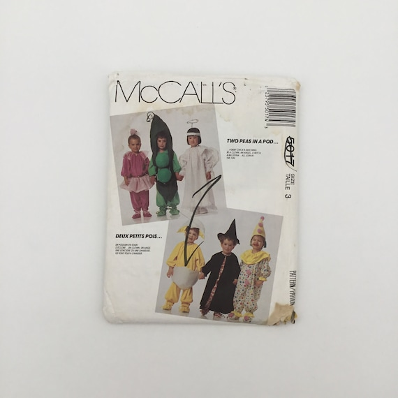 McCall's 5017 (1990) Jumpsuit Costumes - Size Toddler 3 - Vintage Uncut Sewing Pattern