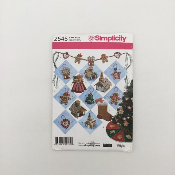 Simplicity 2545 (2009) Christmas Decorations - Uncut Sewing Pattern