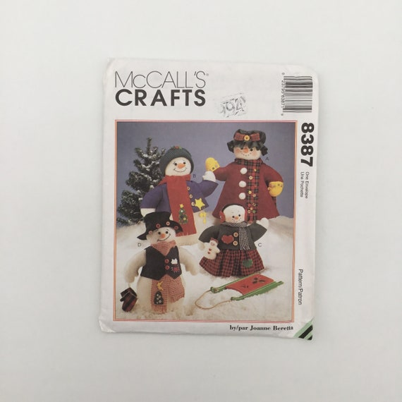 McCall's 8387 (1996) Felt Snow Family - Vintage Uncut Sewing Pattern