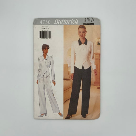 Butterick 4730 (1996) Top and Pants - Size 14-18 Bust 36-40 - Vintage Uncut Sewing Pattern