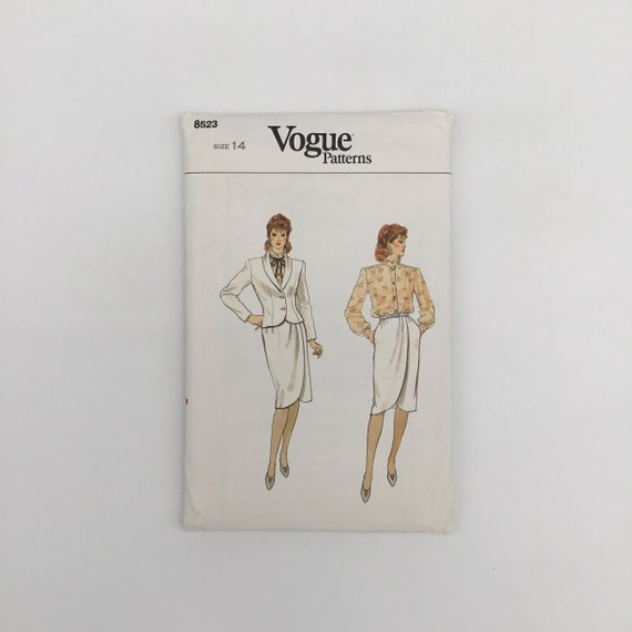 Vogue 8523 Jacket, Skirt, and Blouse - Size 14 Bust 36 - Vintage Uncut Sewing Pattern