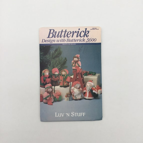 Butterick 5600 (1991) Luv 'N Stuff Christmas Figures - Vintage Uncut Sewing Pattern