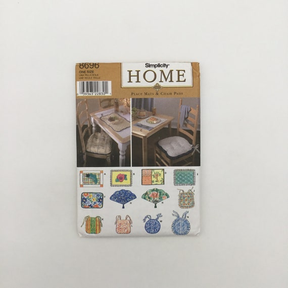 Simplicity 8696 (1999) Place Mats and Chair Pads - Vintage Uncut Sewing Pattern