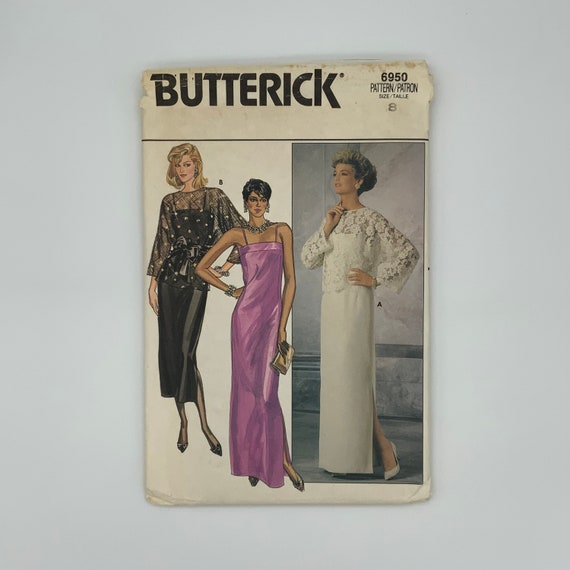 Butterick 6950 Dress and Top with Style and Length Variations - Size 8 Bust 31.5 - Vintage Uncut Sewing Pattern
