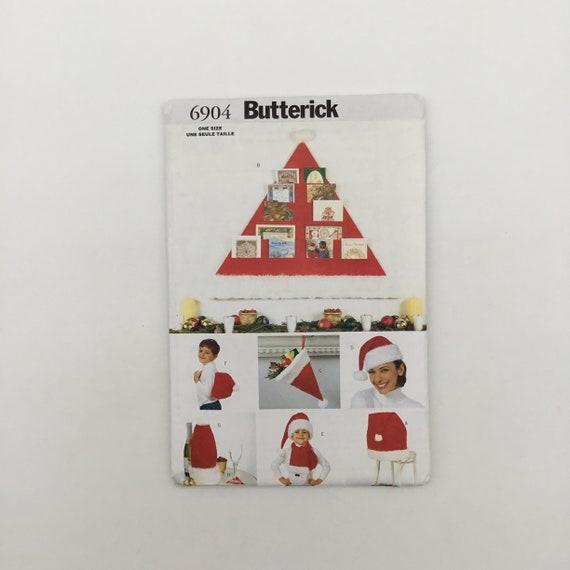 Butterick 6904 (2000) Santa Hat Christmas Decorations - Uncut Sewing Pattern