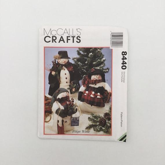 McCall's 8440 (1996) Faye Wine Snowman Family - Vintage Uncut Sewing Pattern