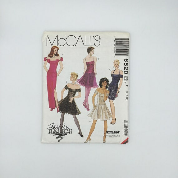 McCall's 6520 (1993) Dress with Length and Style Variations - Multiple Sizes Available - Vintage Uncut Sewing Pattern