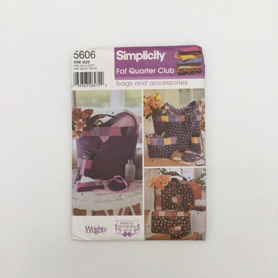 Simplicity 5606 (2003) Fat Quarter Club Bags and Accessories - Uncut Sewing Pattern