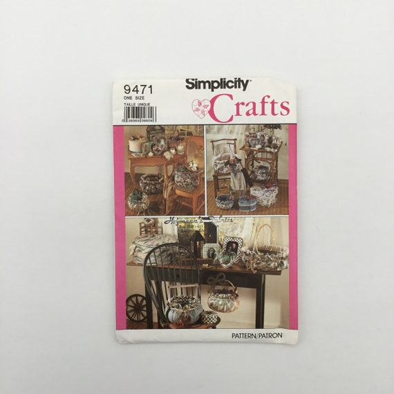 Simplicity 9471 (1989) Photo Frames and Baskets - Vintage Uncut Sewing Pattern