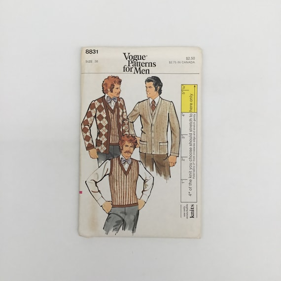 Vogue 8831 Cardigan and Sweater Vest - Size 38 - Vintage Uncut Sewing Pattern