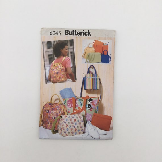 Butterick 6043 (1999) Reversible Bags - Vintage Uncut Sewing Pattern