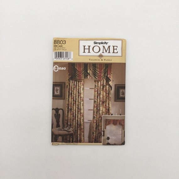 Simplicity 8803 (1999) Window Treatments - Vintage Uncut Sewing Pattern