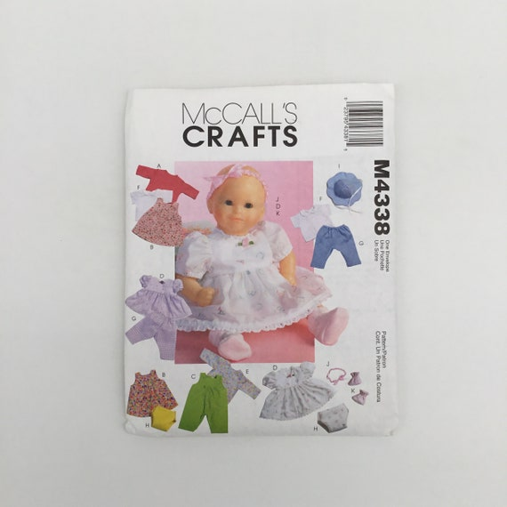 McCall's 4338 (2003) Doll Clothes - Uncut Craft Pattern