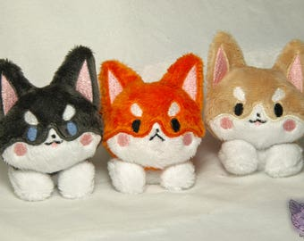 MADE TO ORDER - Corgi Plush Pups - 5in Plush - Realistic Colors - Choose Color and Facial Expression