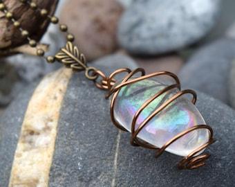 Angel Aura Bronze Leaf Necklace