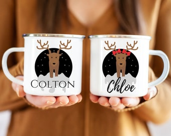 Kids hot Cocoa Christmas Mug, Childrens Hot Chocolate Cup Personalized, Kids mugs, Kids cups, Christmas eve gifts, boy and girl cups