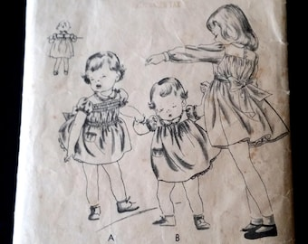 Toddler - Dress and Panties in sizes 1 year old by Vogue(Conde Nast) from the 1920's - 1930's