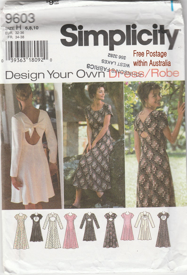4b7ca3d94 Classic Sewing Pattern Back Feature 4 Variations Dress in 2 | Etsy