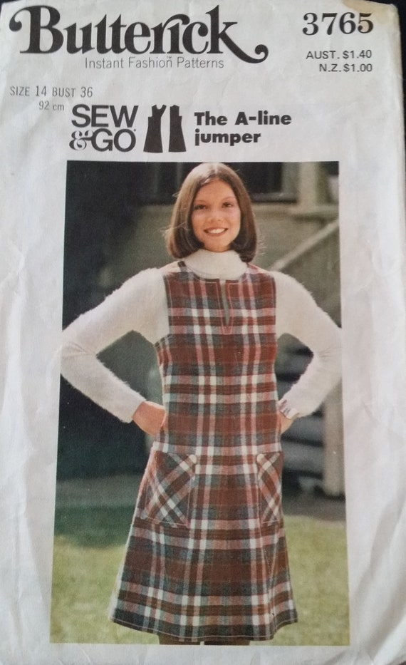 fd68bbf8f7 Price Reduction Sew Go A-line Jumper Dress in Size 14 by