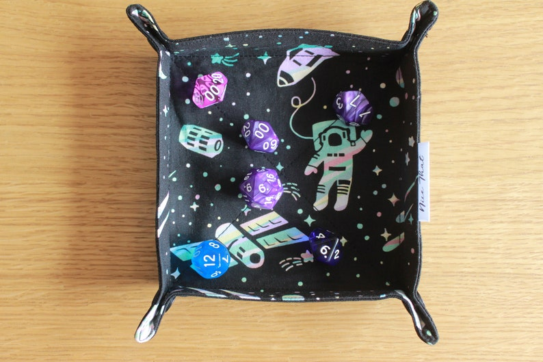 Tabletop Gamers and Travellers. Valet Tray Space Odyssey Collapsible Folding Dice Tray Role Players For Boardgamers Game Tray