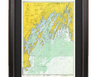 Casco bay map etsy vintage casco bay maine nautical map 1976 version freerunsca Image collections