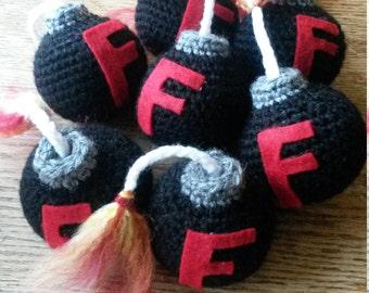 Mini F-Bomb//F-Bomb//Stress Ball//Bomb Stuffie//Curse Bomb