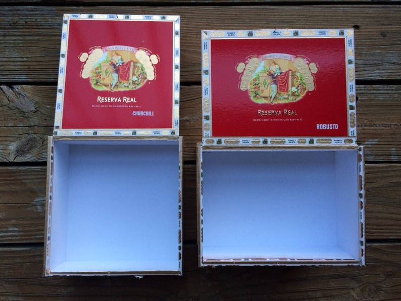 3pcs of wood cigar boxes  wood craftbox  craft  box  storage  woodworking supplies Package