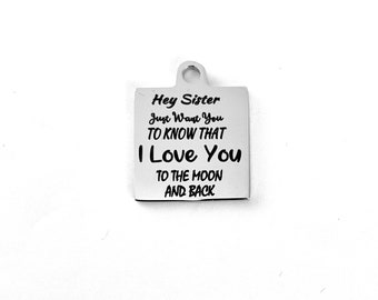 2PCS Stainless Steel 26mmx48mm I may not be your frist date,your frist kiss,or your frist love.i just want to be your last EVERTHING charms