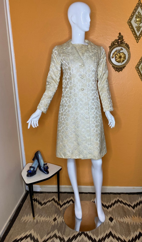 1960s Brocade Dress and Coat set