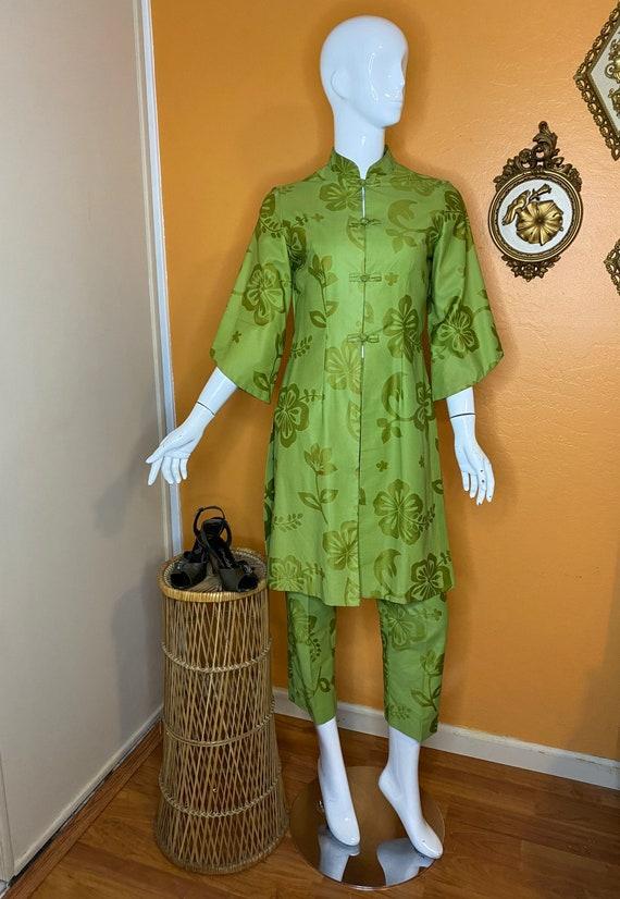 1950s/60s Asian/Hawaiian inspired two piece tunic