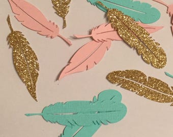 Bohemian feather confetti